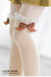 CAC000045 Nude Ribbon Socks for 1/3, 1/4 dolls
