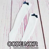 CAC000062 Navy Ribbon/White Socks For Slim 1/4 Dolls