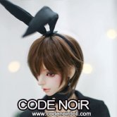 CAC000057 Black Bunny Hairband for SD / MDD Size
