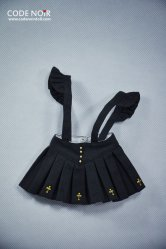 COB000008 Black Cross Jumper Skirt