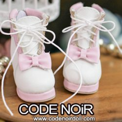 CYS000049 Pink/White Lolita Ankle Boots