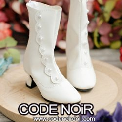 CMS000151 White Button Boots MSD ver.