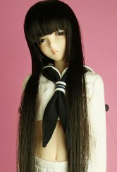 Hime-Cut Semi-Long Wig (Black)