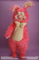 girl*holic Animal Suit Pink Rabbit