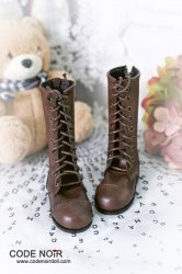 CLS000145 Chocolate Brown Leather Boots