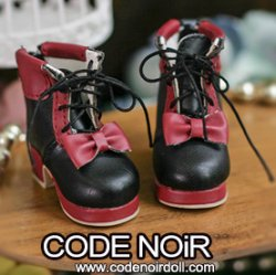 CYS000050 Black/Red Lolita Ankle Boots