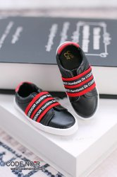 CBS000040 Black Casual Shoes (Red Strap)