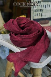 [Pre-Order June]CAC000011 Claret Linen Scarf