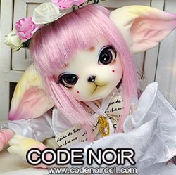 CODENOiR x DollZone Miss Kitty - White Rosy Kitten