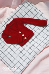 CMD000082 Red Cardigan (MSD)