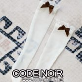 CAC000076 Brown Ribbon/White Socks for 1/3, 1/4 dolls