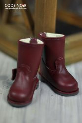 CYS000033 Wine Ribbon Rain Boot