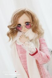 CAC000051 Pink Circular Glasses for SD
