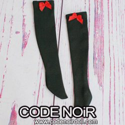 CAC000061 Red Ribbon/Black Socks For Slim 1/4 Dolls