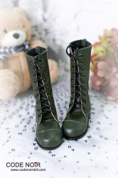 CLS000144 Forest Green Leather Boots