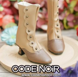 CMS000153 Camel x Brown Button Boots MSD ver.