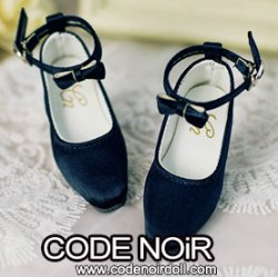 CMS000146 Midnight Blue Silk Ribbon Heels