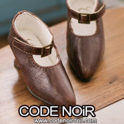 CMS000149 Brown Pointy Buckle Shoes