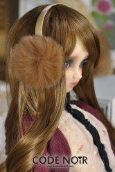[Pre-Order May]CAC000001 Faux Fur Earmuffs (Brown) for 8-9 inch