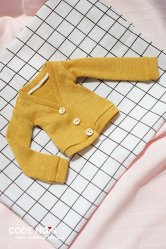 CMD000083 Mustard Yellow Cardigan (MSD)