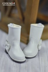 CYS000034 White Ribbon Rain Boot
