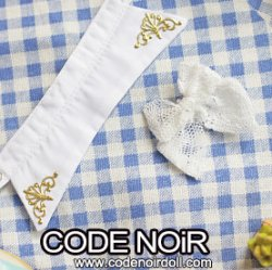 CAC000107 White Detachable Collar & White Lace Bow For 1/3 Dolls